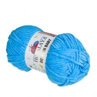 Himalaya Dolphin Baby 80326 niebieski. Kod EAN 8697681162503 - pluszowa, poliestrowa włóczka