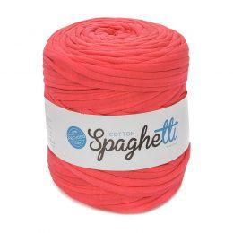 T-shirtowy sznurek z recyklingu cotton spaghetti różowy