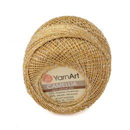 Kordonek z nitką brokatową yarn art camellia w kolorze 2400 złotym