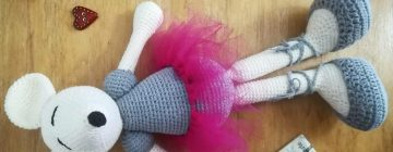 Mysza Baletnica darmowy wzór na zabawkę amigurumi