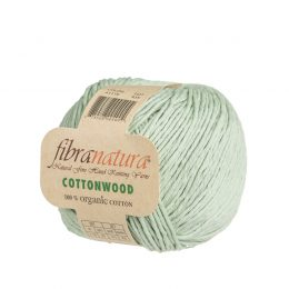 Fibranatura Cottonwood 41119 w kolorze miętowym. Wysokiej jakości, mięciutka bawełna organiczna