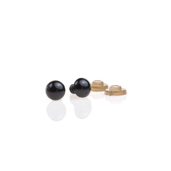 Oczy bezpieczne czarne 10mm do zabawek wraz z zatyczkami amigurumi