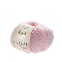 Delikatna włóczka Gazzal Baby Cotton 3411 gładko skręcona z kilku nitek