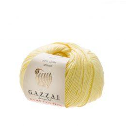 Delikatna włóczka Gazzal Baby Cotton 3413 gładko skręcona z kilku nitek
