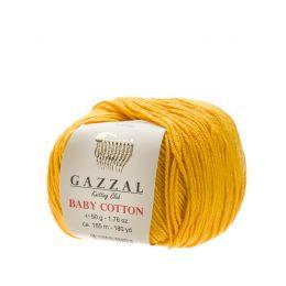 Delikatna włóczka Gazzal Baby Cotton 3417 gładko skręcona z kilku nitek