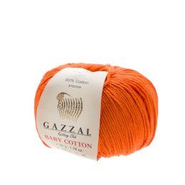 Delikatna włóczka Gazzal Baby Cotton 3419 gładko skręcona z kilku nitek