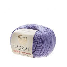 Delikatna włóczka Gazzal Baby Cotton 3420 gładko skręcona z kilku nitek