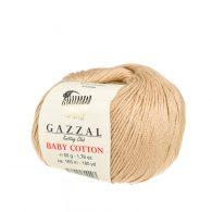 Delikatna włóczka Gazzal Baby Cotton 3424 gładko skręcona z kilku nitek