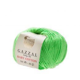 Delikatna włóczka Gazzal Baby Cotton 3427 gładko skręcona z kilku nitek