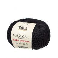 Delikatna włóczka Gazzal Baby Cotton 3433 gładko skręcona z kilku nitek