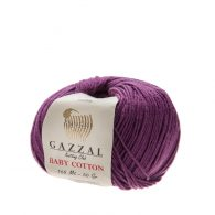 Delikatna włóczka Gazzal Baby Cotton 3441 gładko skręcona z kilku nitek