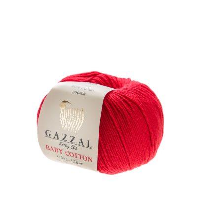 Delikatna włóczka Gazzal Baby Cotton 3443 gładko skręcona z kilku nitek