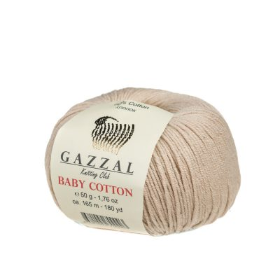 Delikatna włóczka Gazzal Baby Cotton 3446 gładko skręcona z kilku nitek