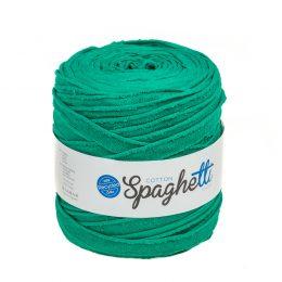 Cotton Spaghetti zielony Bawełniana t-shirtowa włóczka z recyklingu
