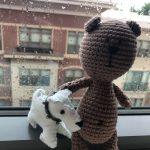 Вязание крючком Медведь Путешественник в Балтиморе
