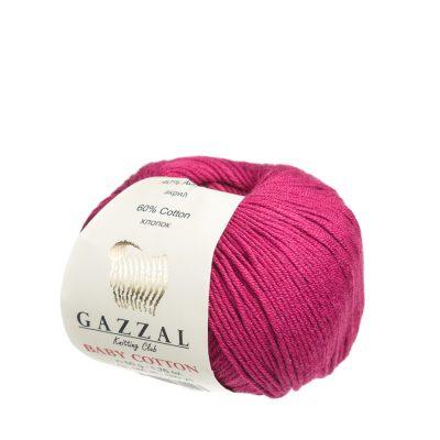 gazzal baby cotton 3442 włóczka do amigurumi w kolorze wiśniowym
