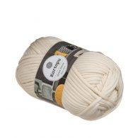 Kartopu Home Decor 025 ecru to miękka włóczka przypominająca sznurek bawełniany.