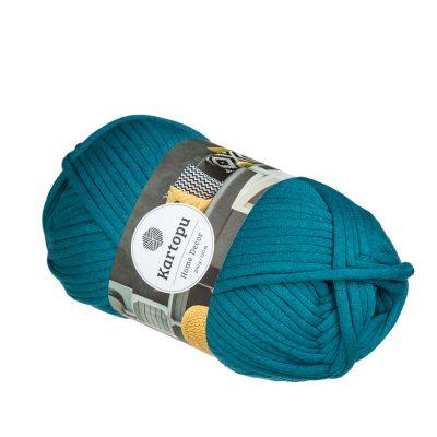 Kartopu Home Decor K1521 morski to bawełniana włoczka z poliamidowym rdzeniem.