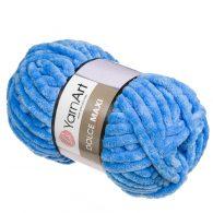 yarn art dolce maxi 777 pluszowa gruba włóczka wykonana z poliestru w kolorze niebieskim