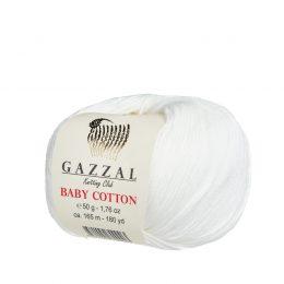 gazzal baby cotton 3410 kremowa włóczka idealna do amigurumi
