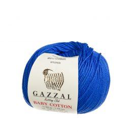 gazzal baby cotton 3421 włóczka do amigurumi w kolorze kobaltowym