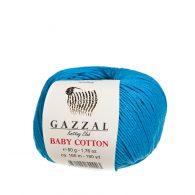 gazzal baby cotton 3428 w kolorze turkusowym idealna włóczka do amigurumi