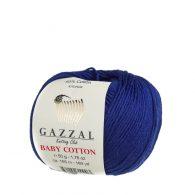 gazzal baby cotton 3438 piękna włóczka w atramentowym kolorze