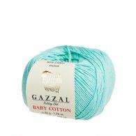 gazzal baby cotton 3452 w kolorze aqua włóczka idealna do amigurumi