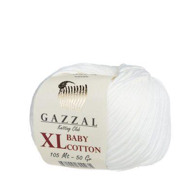 gazzal baby cotton xl 3410 kremowy włoczka do amigurumi