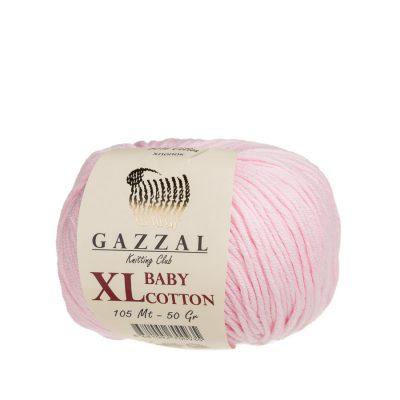 gazzal baby cotton xl 3411 włóczka do amigurumi w kolorze różowym