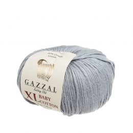 gazzal baby cotton xl 3430 idealna włóczka do amigurumi w kolorze szarym