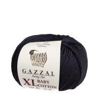 gazzal baby cotton xl 3433 w kolorze czarnym włóczka do amigurumi