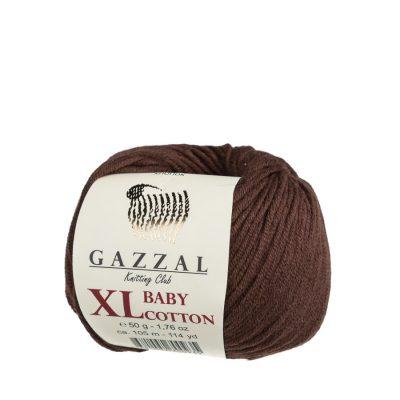 gazzal baby cotton xl 3436 w kolorze brązowym włóczka stworzona do amigurumi