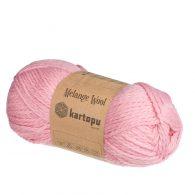 kartopu melange wool k2216 różowy miękka włóczka o składzie mieszanym