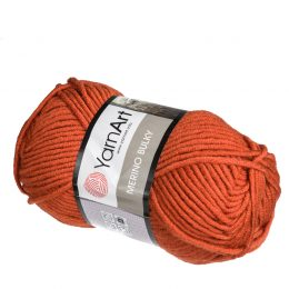 yarn art merino bulky 3027 rudy mieszanka akrylu z merynosem