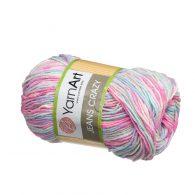 Yarn Art Jeans Crazy 7205 cieniowana kolorowa włóczka do amigurumi.