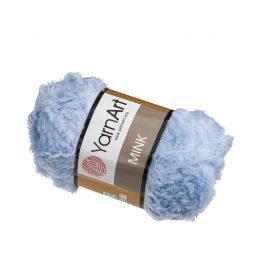 Yarn Art Mink 351 pluszowa trawka w kolorze niebieskim