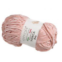 Yonca Baby 70318 pluszowa włóczka w kolorze różowym