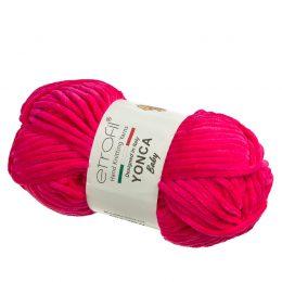Yonca Baby 70319 pluszowa włóczka w kolorze fuksji