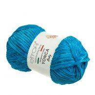 Yonca Baby 70520 pluszowa włóczka w kolorze niebieskim