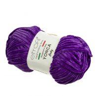 Yonca Baby 70610 pluszowa włóczka w kolorze fioletowym