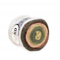 Nako Angora Luks Color 81905 las tropikalny włóczka na chusty
