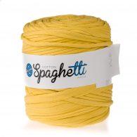 Cotton Spaghetti t-shirtowy kanarkowy to recyklingowy bawełniany sznurek do dziergania puf, koszyków, dywanów, plecaków i torebek.