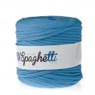 Cotton Spaghetti t-shirtowy błękitny to recyklingowy bawełniany sznurek do dziergania puf, koszyków, dywanów, plecaków i torebek.