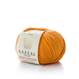 Gazzal Baby Cotton 3416 złoty to bawełniano-akrylowa włóczka występująca w wielu pięknych kolorach, idealna do amigurumi.