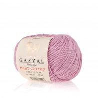Gazzal Baby Cotton 3422 lila to bawełniano-akrylowa włóczka występująca w wielu pięknych kolorach, idealna do amigurumi.