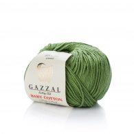 Gazzal Baby Cotton 3449 leśny to bawełniano-akrylowa włóczka występująca w wielu pięknych kolorach, idealna do amigurumi.