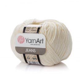 yarn art jeans 03 w kolorze kremowym to włóczka idealna do tworzenia amigurumi.