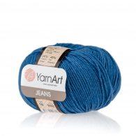 Włóczka Yarn Art Jeans 16 w kolorze jeansowym to kultowa propozycja największego tureckiego producenta. Jej skład to mieszanka bawełny z akrylem.