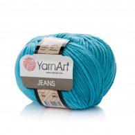Włóczka Yarn Art Jeans 33 w kolorze lazurowym to kultowa propozycja największego tureckiego producenta.
